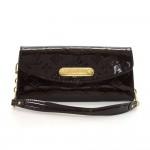 Louis Vuitton Sunset Bluebird Dark Purple Vernis Leather Clutch Wallet