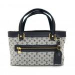 Louis Vuitton Lucille PM Blue Mini Monogram Shoulder Bag