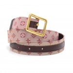 Louis Vuitton Cerise Red Monogram Mini Lin Belt