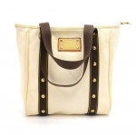 Louis Vuitton Cabas MM White Antigua Canvas Tote Hand Bag - 2006 Limited
