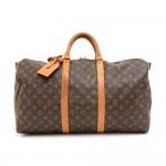 Vintage Louis Vuitton Keepall 50 Bandouliere Monogram Canvas Duffel Travel Bag