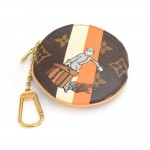 Louis Vuitton Porte Monnaie Monogram Groom Canvas Round Coin Case - Limited