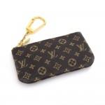 Louis Vuitton Pochette Cles Ebene Damier Mini Monogram Key / Coin Case