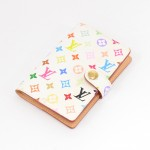 Louis Vuitton  White Multicolor Monogram Agenda Mini Address Book