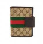 Gucci GG Supreme Canvas and Brown leather 6-ring  Agenda Cover
