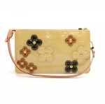 Louis Vuitton Beige Vernis Leather Flower Lexington 2002 Limited Handbag