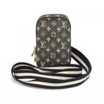 Louis Vuitton Housse Digitale Black Monogram Mini Lin Camera Case +  Shoulder Strap