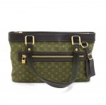 Louis Vuitton Lucille PM Dark Green Khaki Monogram Mini Canvas Hand Bag