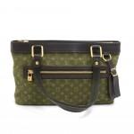 Louis Vuitton Lucille PM Dark Green Khaki Monogram Mini Canvas Hand Bag