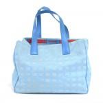 Chanel Travel Line Light Blue Jacquard Nylon Medium Tote Bag