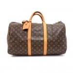 Vintage Louis Vuitton Keepall 50 Monogram Canvas Duffle Travel Bag