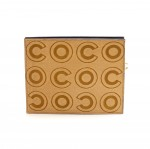 Chanel Beige Pony Hair COCO Logo Pouch Clutch- Rare Limited Ed.