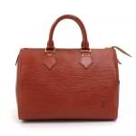 Vintage Louis Vuitton Speedy 25 Kenyan Fawn Brown Epi Leather City Handbag