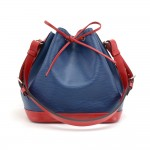 Louis Vuitton Blue x Red Bicolor Epi Leather Petite Noe Shoulder Bag