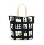 Chanel Coco Window Black & White Canvas Tote Bag