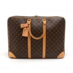 Louis Vuitton Sirius 55 Monogram Canvas Soft Sided Suitcase Travel Bag
