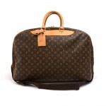 Vintage Louis Vuitton  Alize 3 Poches Monogram Canvas Travel Bag + Strap