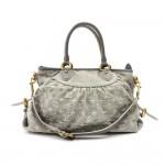 Louis Vuitton Neo Cabby MM Gray Monogram Denim 2way Bag