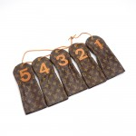 Vintage Louis Vuitton Monogram Canvas Numbered Golf Club Head Covers -Set of 5