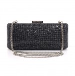 Armani Exchange Black Chainmail Clutch & Chain Strap Evening Bag