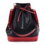 Vintage Louis Vuitton Noe Large Bicolor Red & Black Epi Leather Shoulder Bag
