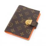 Louis Vuitton Koala PM Monogram & Orange Canvas 6-ring Agenda Cover