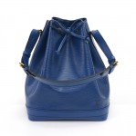 Vintage Louis Vuitton Noe Large Blue Epi Leather Shoulder Bag