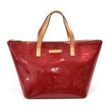 Louis Vuitton Bellevue PM Red Vernis Leather Handbag