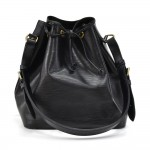Louis Vuitton Petit Noe Black Epi Leather Shoulder Bag
