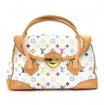 Louis Vuitton Beverly GM White Multicolor Monogram Canvas Hand Bag