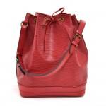 Vintage Louis Vuitton Noe Large Red Epi Leather Shoulder Bag