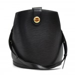 Vintage Louis Vuitton Cluny Black Epi Leather Shoulder Bag