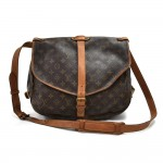 Vinatge Louis Vuitton Saumur 35 Monogram Canvas Messenger Bag