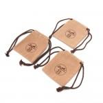 Hermes Beige Velveteen Dust Bag For Accessories Set of 3
