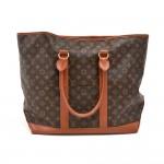 Louis Vuitton Sac Weekend GM Monogram Canvas XLarge Tote Bag