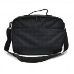 Chanel Travel Line Black Jacquard Nylon  Hard Case Travel Carryon Bag