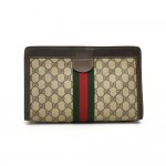 Vintage Gucci GG Supreme Coated Canvas Clutch Bag
