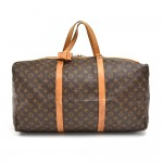 Vintage Louis Vuitton Sac Souple 55 Monogram Canvas Duffle Travel Bag