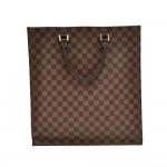 Louis Vuitton Sac Plat Ebene Damier Canvas Tote Hand Bag