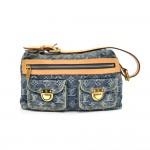 Louis Vuitton Baggy PM Blue Monogram Denim Hobo Bag - 2006 Limited