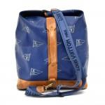 Vintage Louis Vuitton Sac Marin Blue LV Cup Canvas 2Way Duffel Travel Bag-1992 Ed