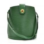 Louis Vuitton Cluny Green Epi Leather Shoulder Bag