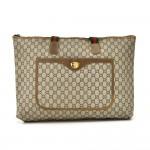 Vintage Gucci Plus Beige GG Plus Coated Canvas Wide Shoulder Tote Bag -Limited