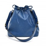 Vintage Louis Vuitton Petit Noe Blue Epi Leather Shoulder Bag
