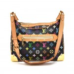 Louis Vuitton Boulogne Black Multicolor Monogram Canvas Shoulder Bag
