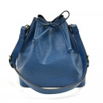 Louis Vuitton Petit Noe Blue Epi Leather Shoulder Bag