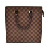 Vintage Louis Vuitton Venice Ebene Damier Canvas Tote Handbag