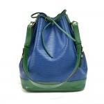 Vintage Louis Vuitton Noe Large Bicolor Blue & Green Epi Leather Shoulder Bag