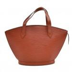 Vintage Louis Vuitton Saint Jacques PM Brown Epi Leather Handbag
