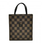 Fendi Pequin Checkerboard Pattern Coated Canvas Tote Bag